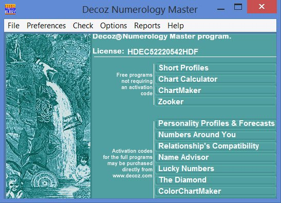 Numerology Reading - Decoz Master program World Numerology - numerology chart template