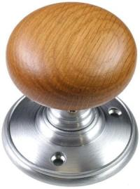 Delamain Oak Door Knobs | World of Brass