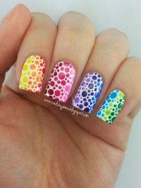 How To Make Rainbow Nail Art Designs