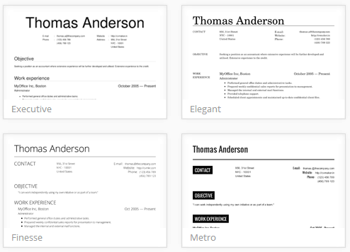 online resume creation tool