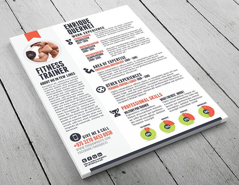 Fitness trainer curriculum vitae template - fitness trainer resume