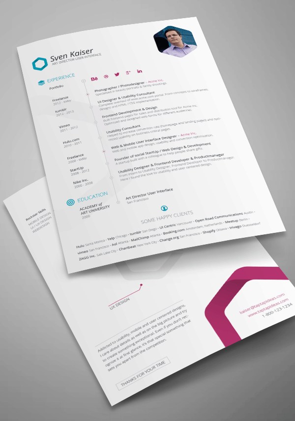 best cv indesign template