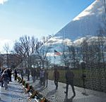 US flag reflexion on Vietnam Veterans Memorial 12 2011 000124 by Mariordo Mario Roverto Durán Ortiz - Own work