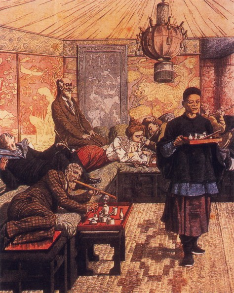"""French opium den"". Licensed under Public domain via Wikimedia Commons -"