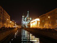 """Church of the Saviour on the Blood at Night, St. Petersburg, Russia"" by neil_barman - Flickr.com"