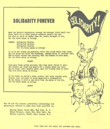 "Lyrics to ""Solidarity Forever"" from UE song book, 1952 (Helen Quirini Papers)"
