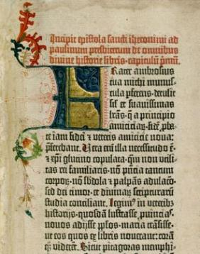 Gutenberg_Bible middle ages medieval calligraphy