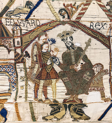 Bayeux Tapestry - Scene 1 : King Edward the Confessor and Harold Godwinson at Winchester.