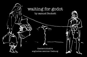 """Poster for drama performance of ""Waiting for Godot"""