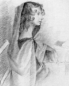 A sketch of Anne Brontë made by her sister, Charlotte Brontë, circa 1834