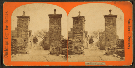 City gates. St. Augustine, from Robert N. Dennis collection of stereoscopic views