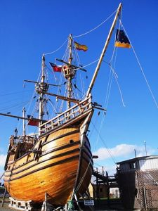 A replica of the Victoria, one of Magellan's ships, in the Museo Nao Victoria, Punta Arenas.