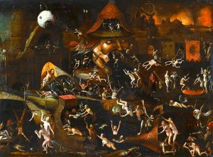 Follower of Jheronimus Bosch - The Harrowing of Hell