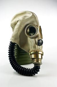 """Gas mask MUA IMGP0157"" by Nikodem Nijaki"