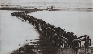 Chinese forces cross the Yalu River