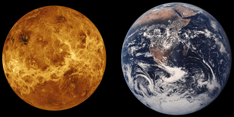 venus earth planet space