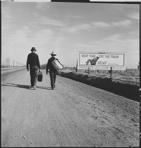 Toward Los Angeles, California (LOC) dorothea lange photography depression poverty migration