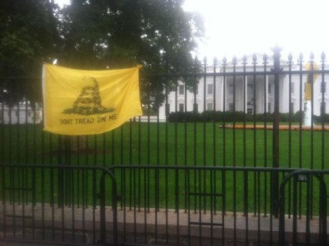 A gadsden-flag-whitehouse