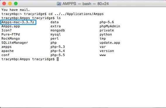 Screenshot of Mac Terminal
