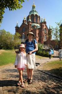 Elise and her Gran in Helsinki - @World Travel Mama