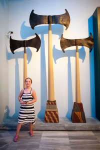 Heraklion, Archaeologocial Museum, giant axes - @World Travel Mama