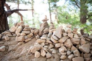 Samaria Gorge piles of stones - @World Travel Mama