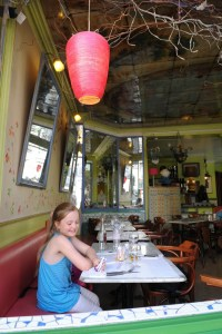 cafe near Sacre Coeur - @World Travel Mama