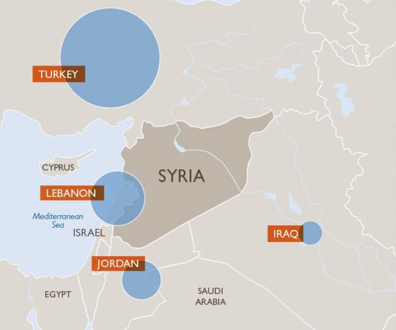 Syrian refugee crisis Facts, FAQs, and how to help World Vision - best of world map hungary syria