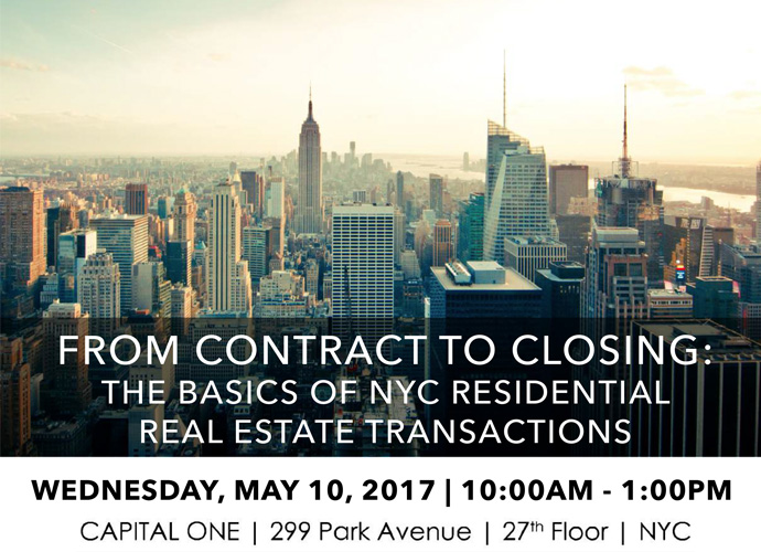 From Contract to Closing The Basics of NYC Residential Real Estate