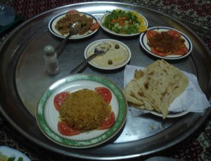 Traditional Omani food in Doha - www.worldwidewriter.co.uk