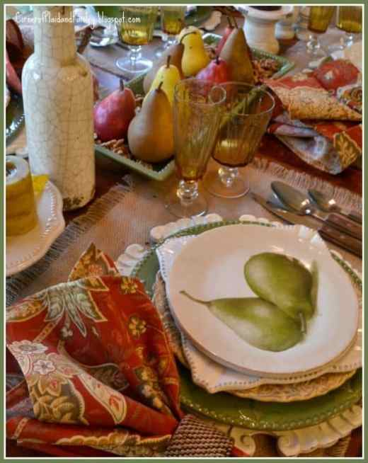 Pear and Paisley fall tablescape