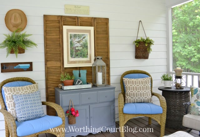 Screen porch reveal