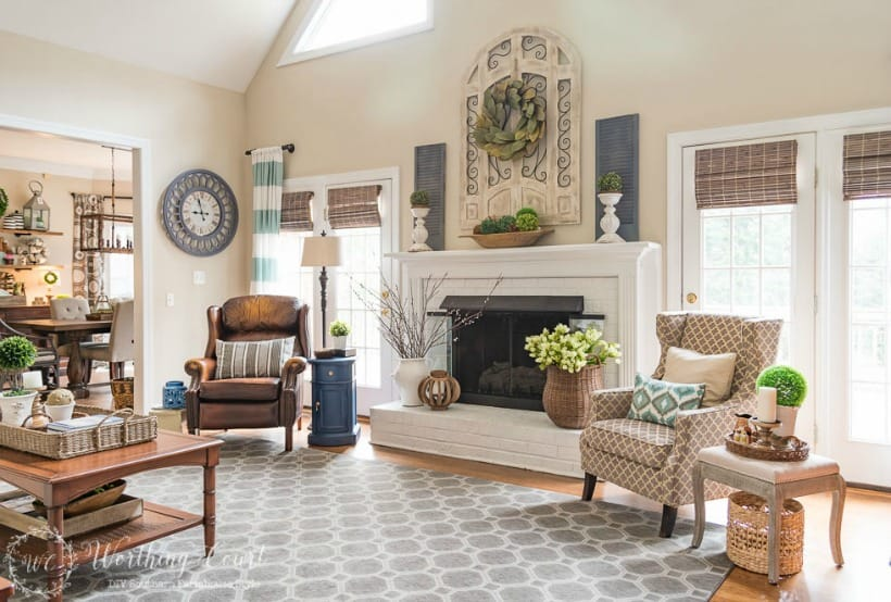 How To Decorate Above A Fireplace In A Two Story Room