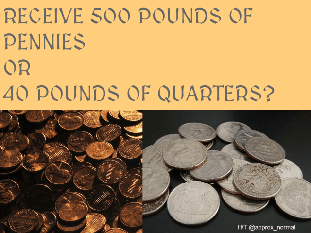 Pounds of coins