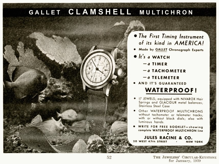 Gallet Multichron 30 Clamshell 1939
