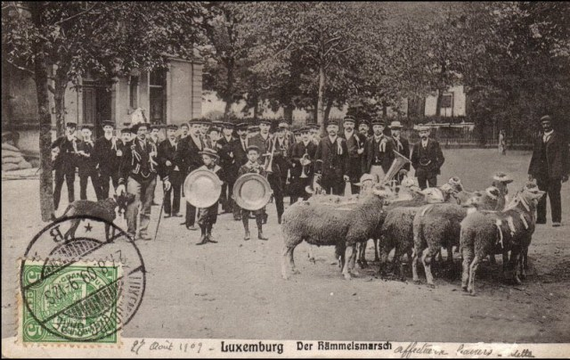 Luxembourg. Unknown Band, 1909 - photo found on Wiki Commons and given into the Public Domain
