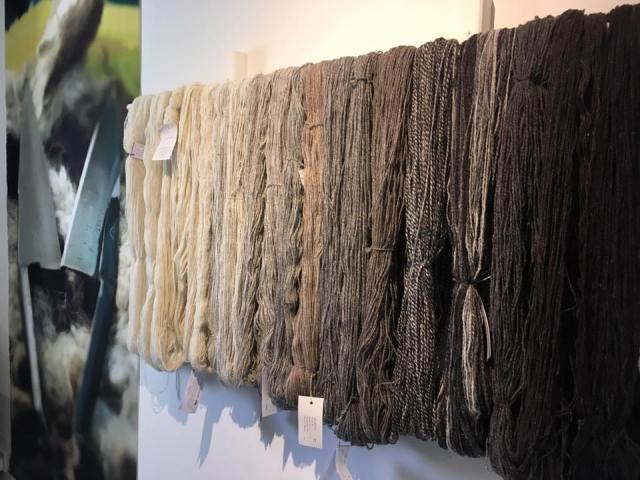 The Uist Wool Yarn Range: Image: Hazel Smith