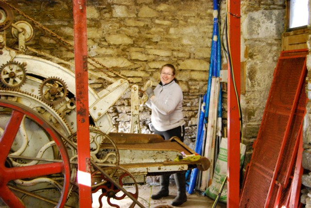 Dana, blithely unaware of the amount of work involved in setting up a Mill, Argyll, 2011