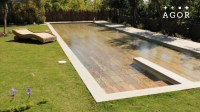 Huge Pool Turns into a Patio When No One is Swimming  Wow