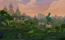 Templo Jade, na paisagem da Floresta Jade