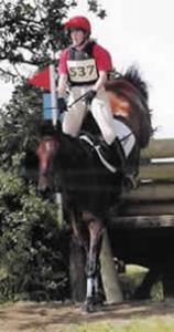 Gillian competing at Aston le Walls Advanced'