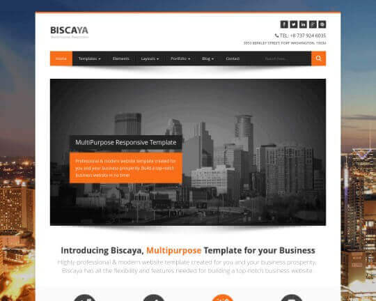 Biscaya HTML Wow Themes