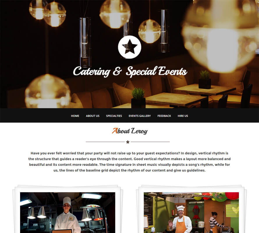 Leroy - Free One Page HTML Bootstrap Template Wow Themes
