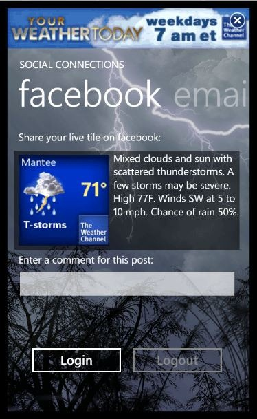 weather channel app for windows 10 mobile