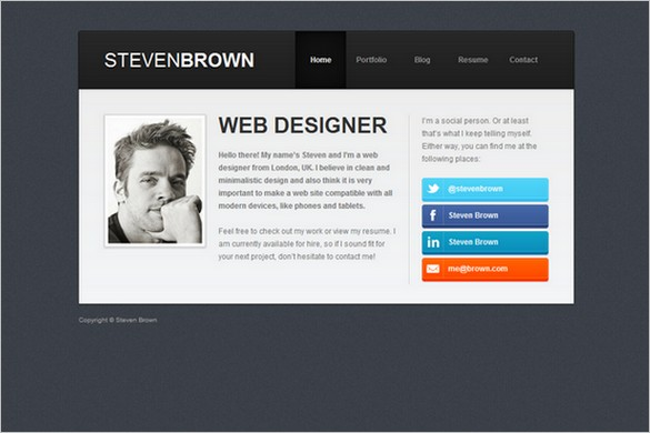Resume Wordpress Theme Free Download 20 best wordpress material - resume wordpress theme