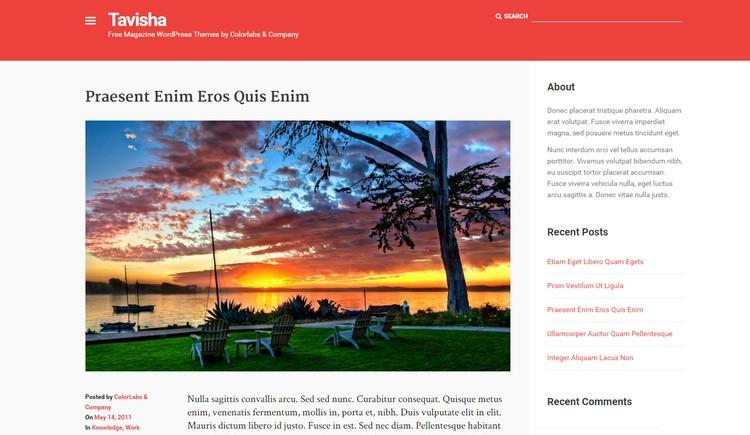 Tavisha - A Free Magazine WordPress Theme from Colorlabs - WP Daily
