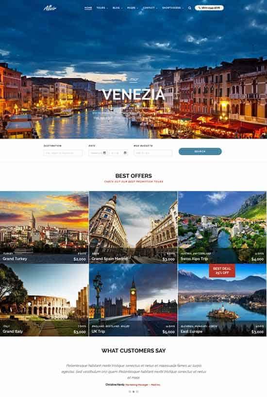 Best Travel Agency Wordpress Theme - wordpress travel themes