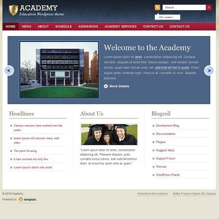 Academy Education WordPress Theme