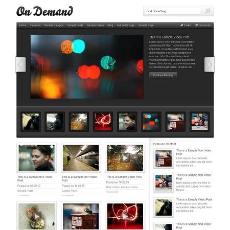 On Demand, Hulu Inspired WordPress Video Theme