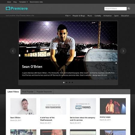 Premiere Video Based WordPress Theme